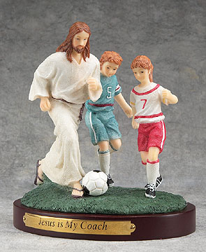 Jesus is cool... he plays soccer with me!